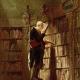 old man at bookshelf