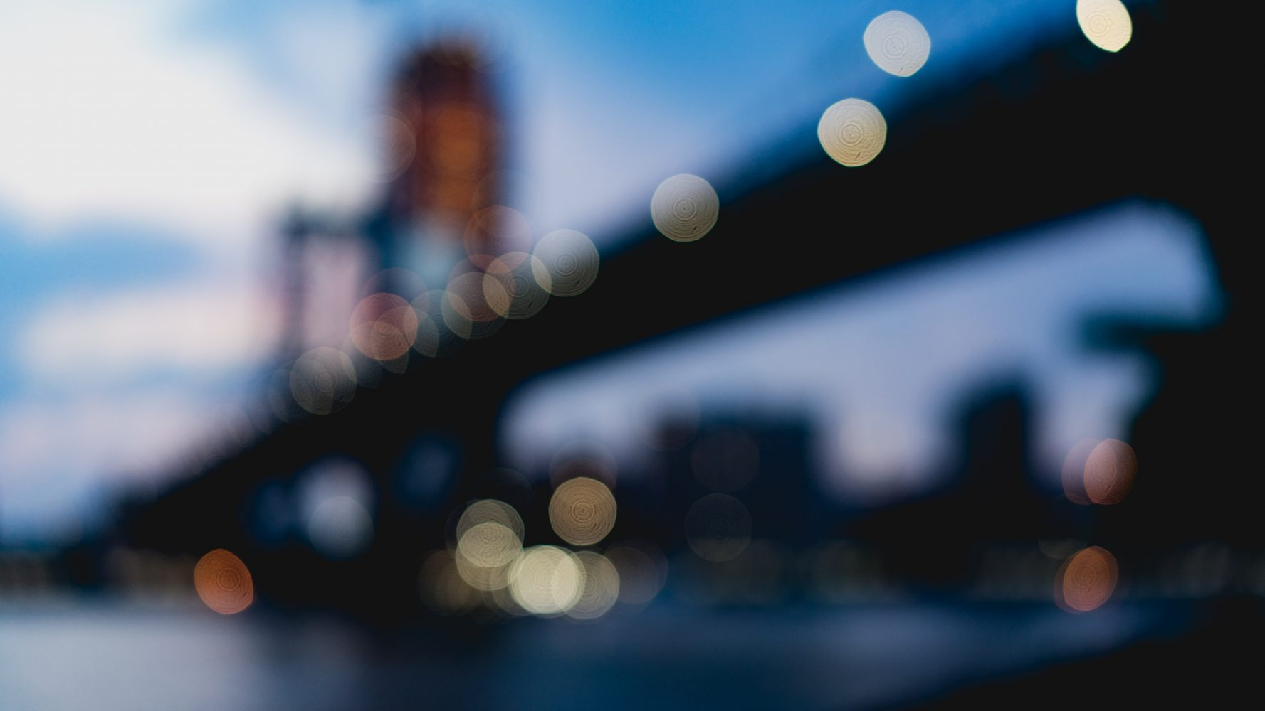 Blurry Brooklyn bridge