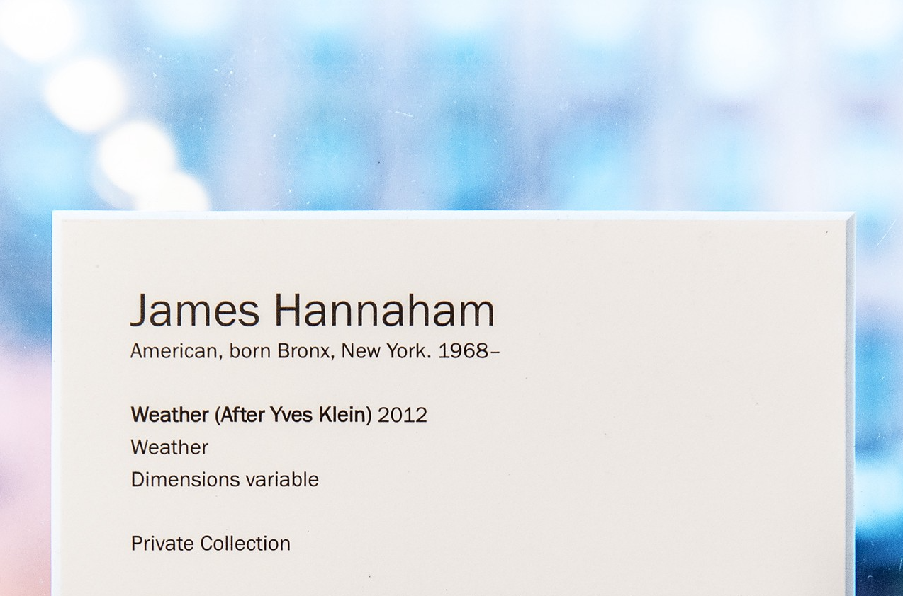 Weather (After Yves Klein), James Hannaham