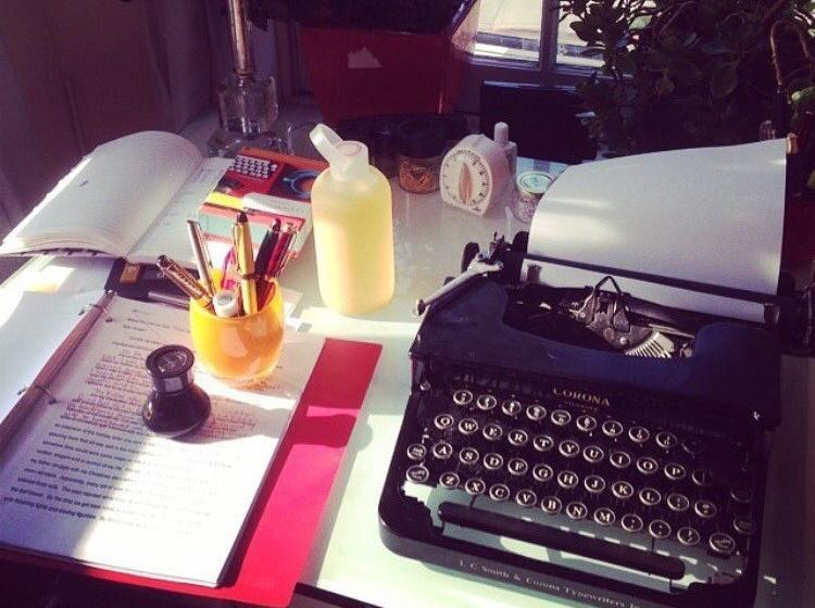 Tayari Jones' writing desk