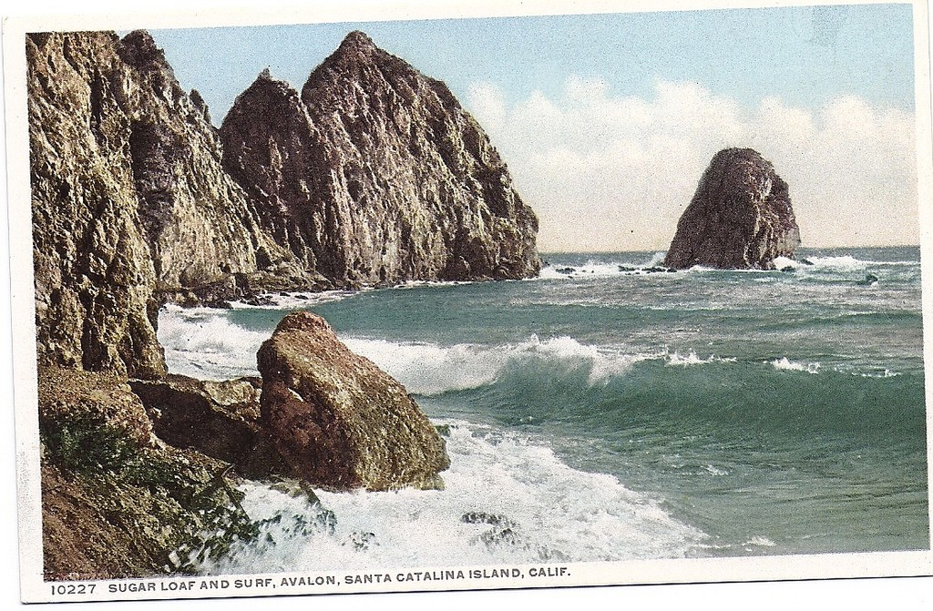 Postcard of Santa Catalina island