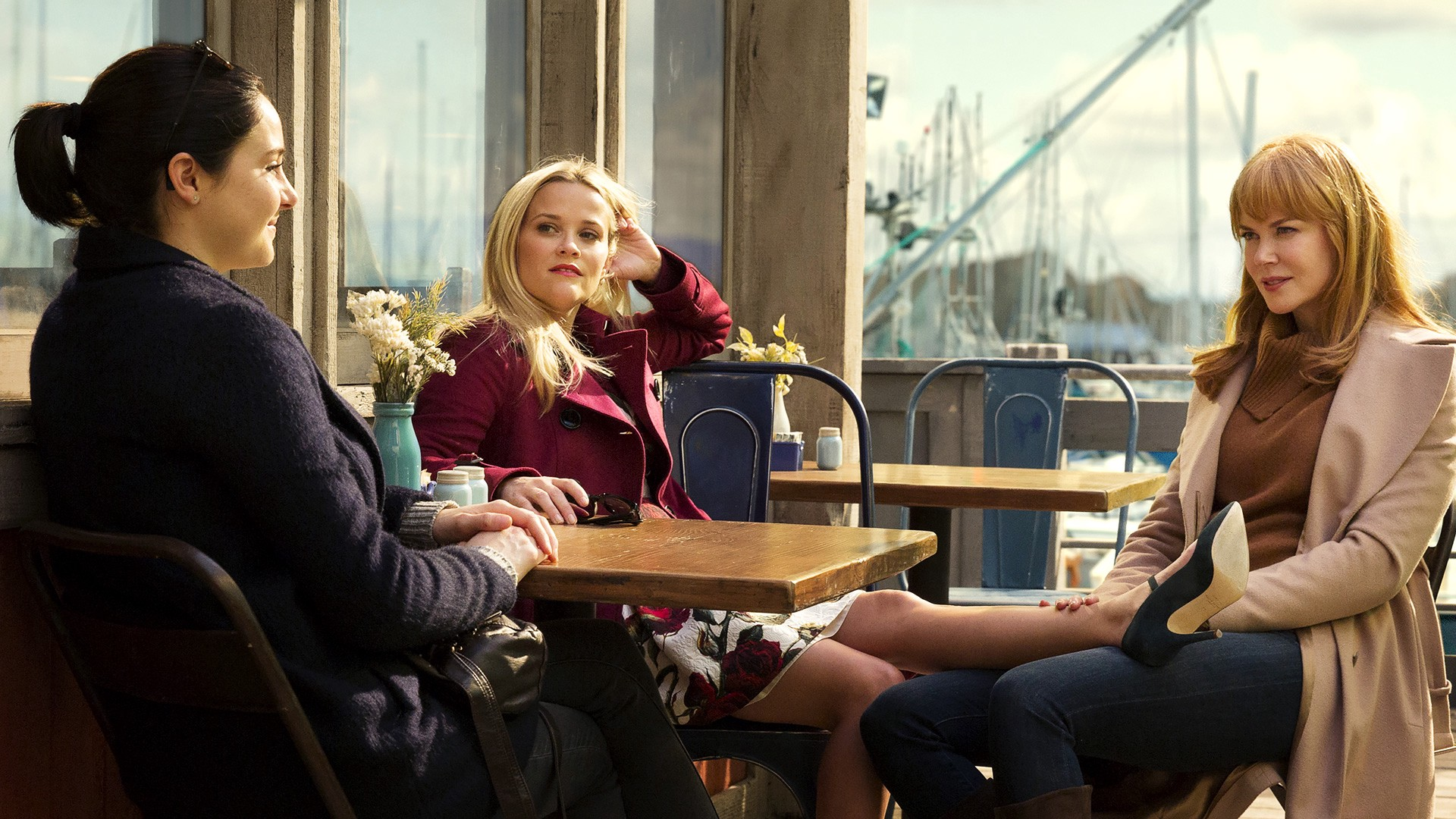 Shailene Woodley, Reese Witherspoon and Nicole Kidman in 'Big Little Lies' (2017)