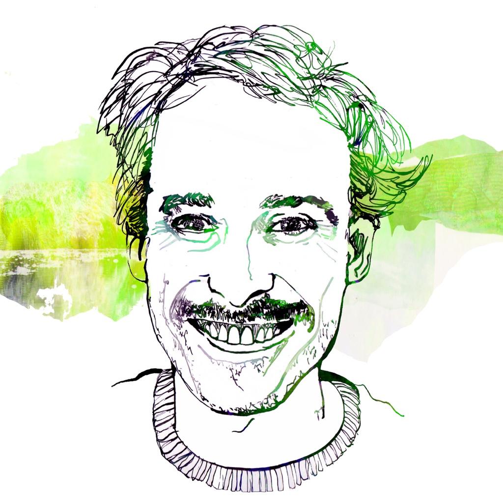 Illustration of Jeffrey Arlo Brown by Carine Kuntz