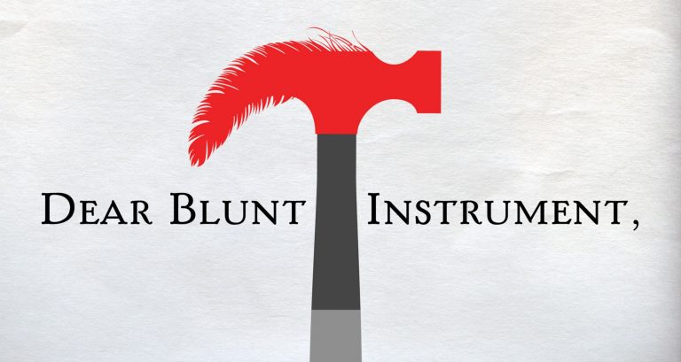 "Logo for ""The Blunt Instrument"""