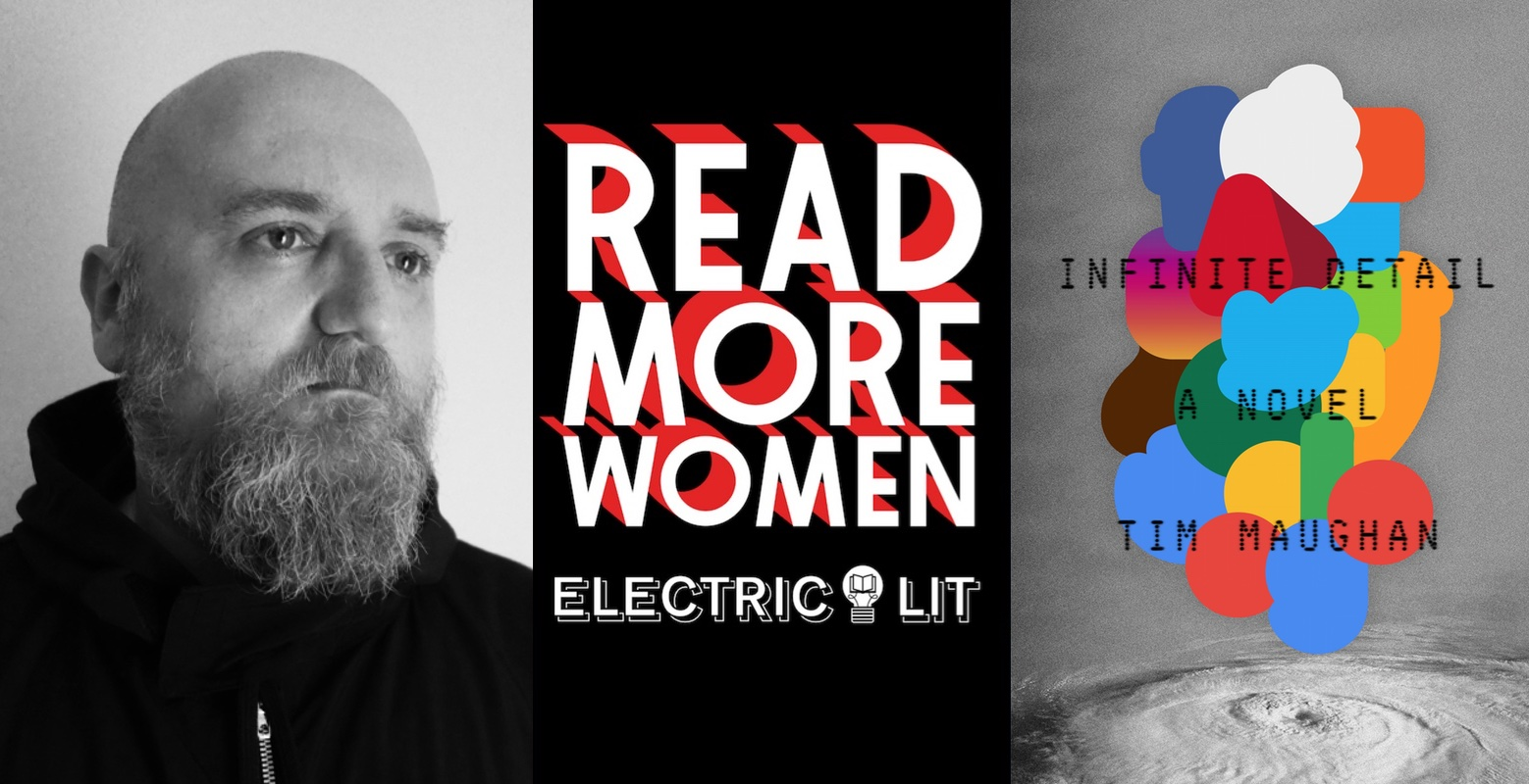 Tim Maughan, his book Infinite Detail, and the Read More Women logo