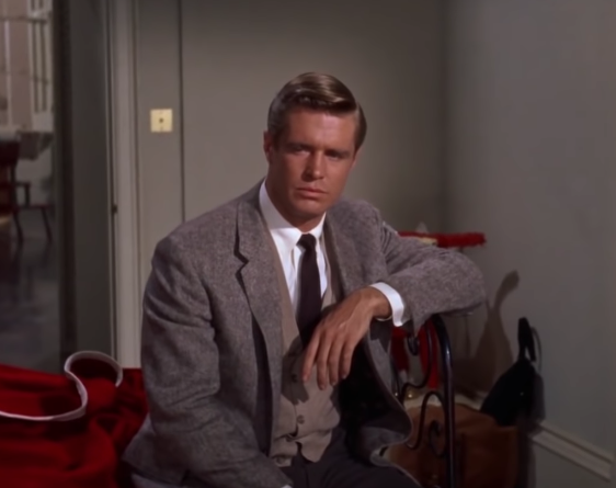 "George Peppard as Paul Varjak in the film ""Breakfast at Tiffany's"""