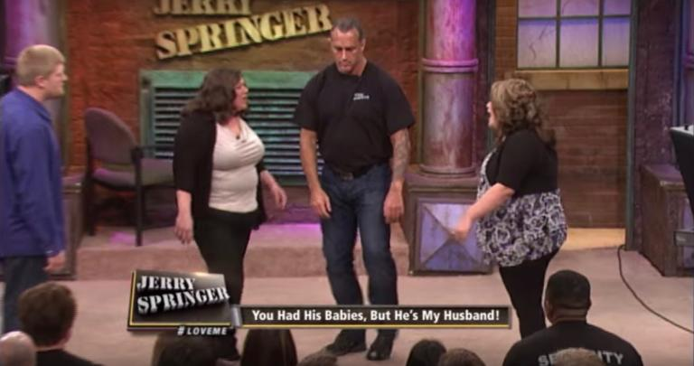 Two women fight onstage Jerry Springer show