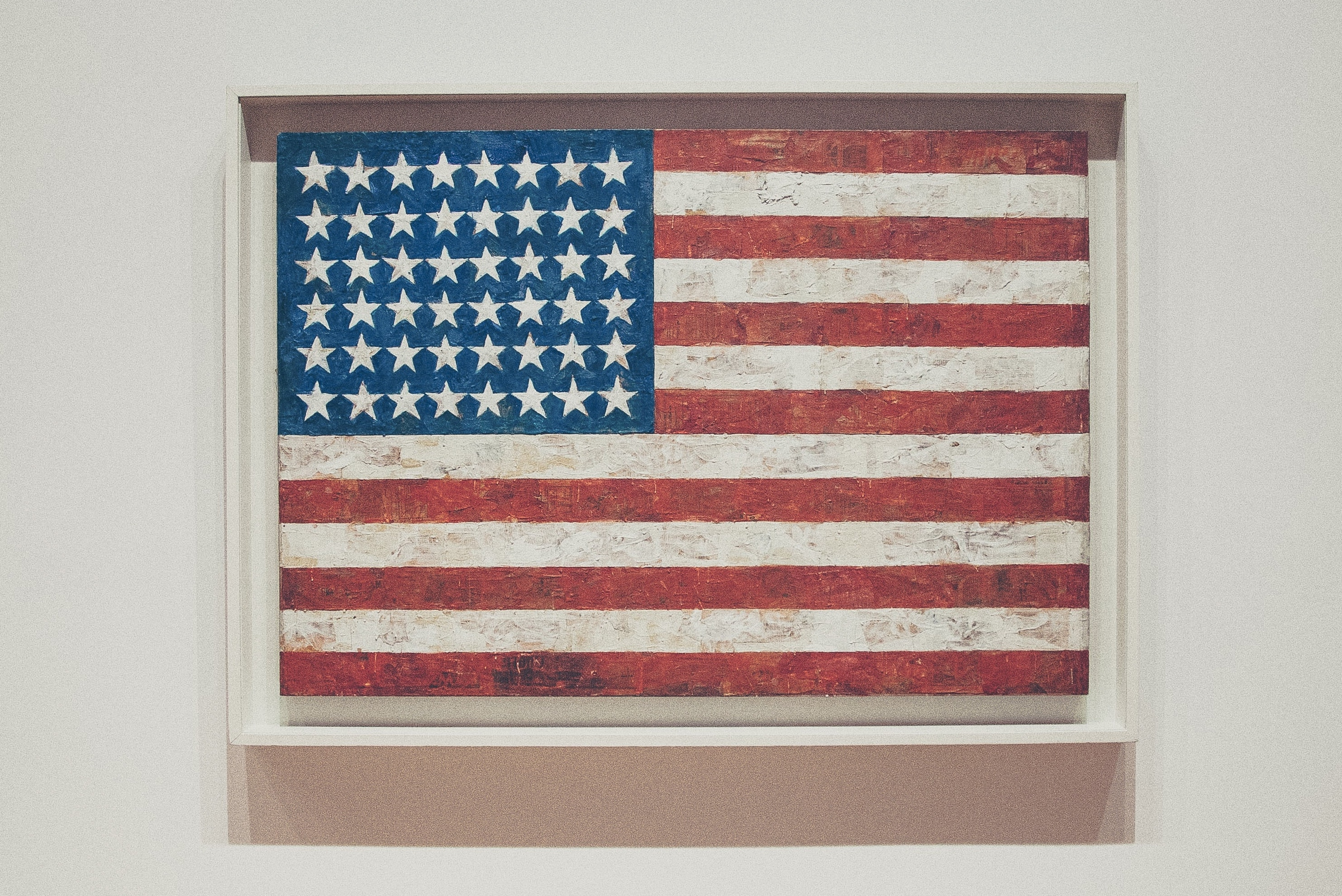 American flag painting at the Whitney Museum