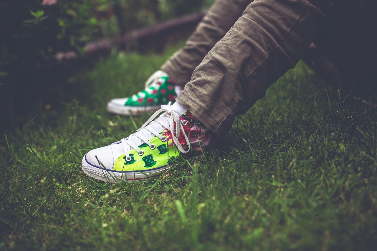 Decorated Converse shoes