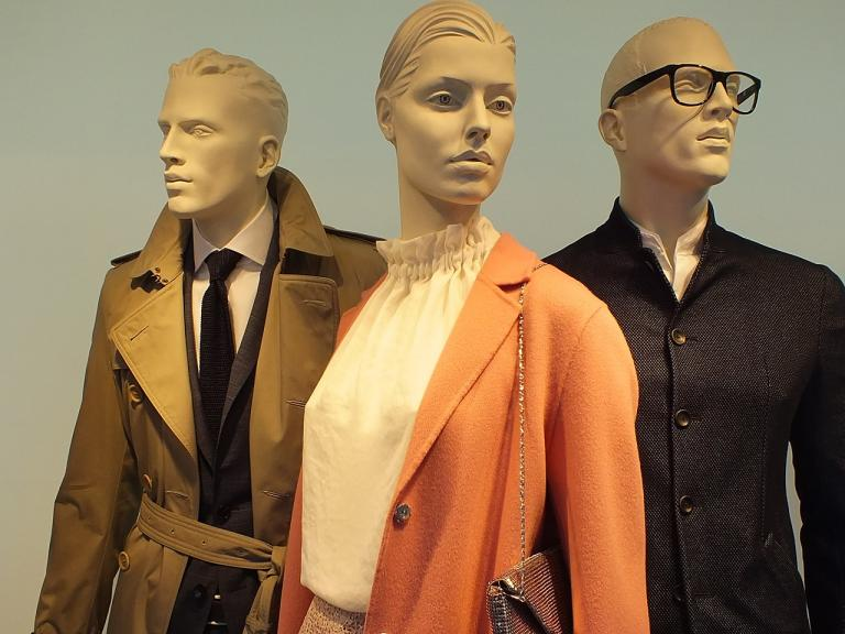 Three department store mannequins