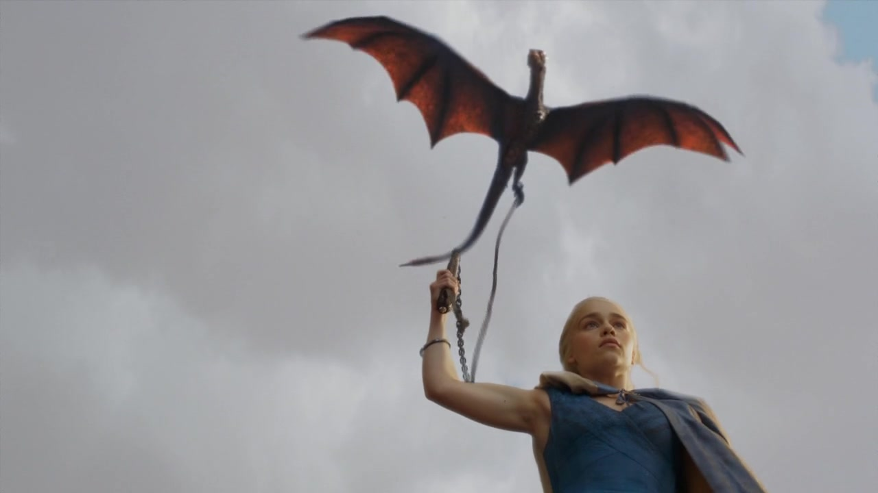 Daenerys and a dragon