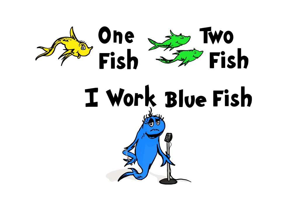 One Fish, Two Fish, I Work Blue Fish