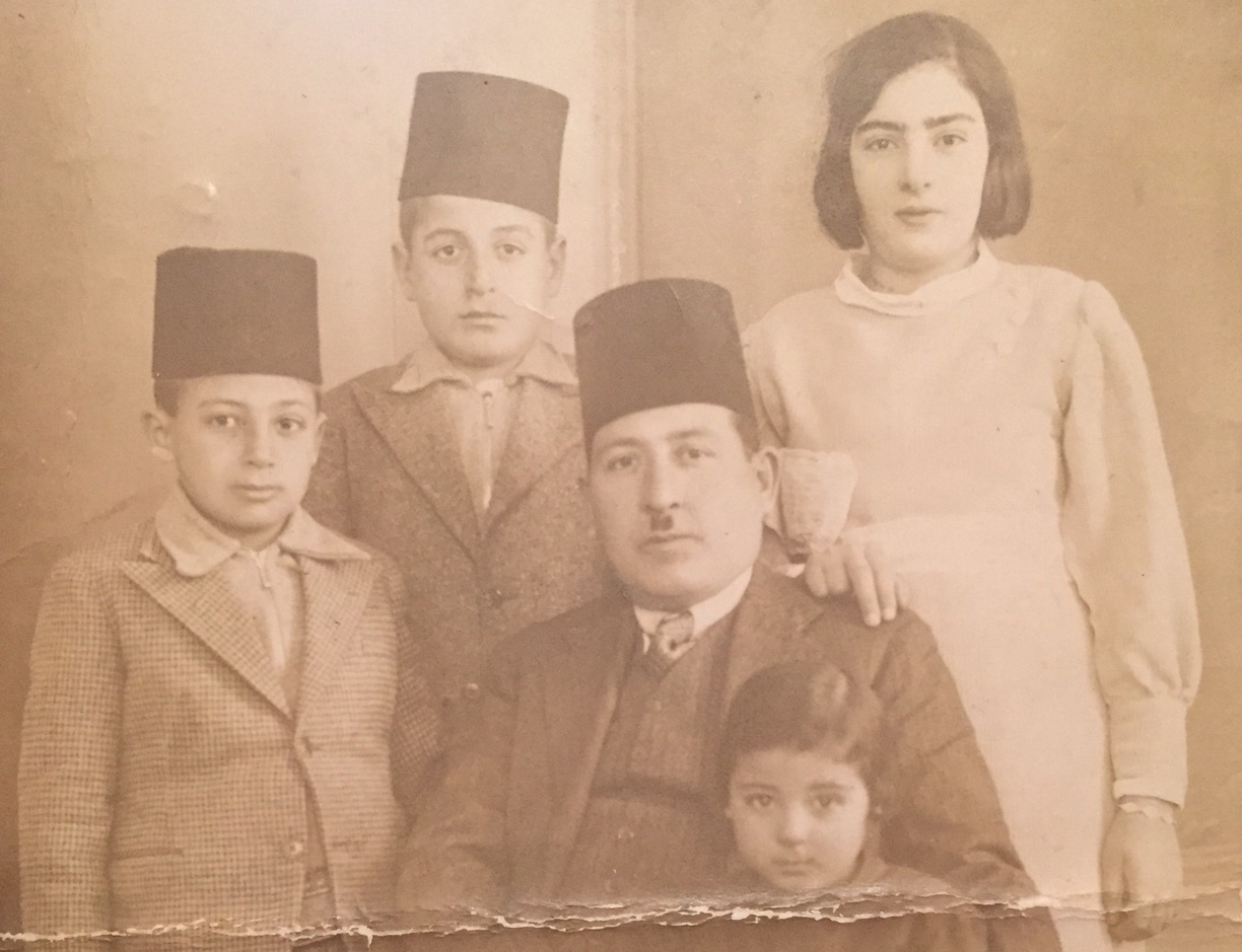 Midhat with his children