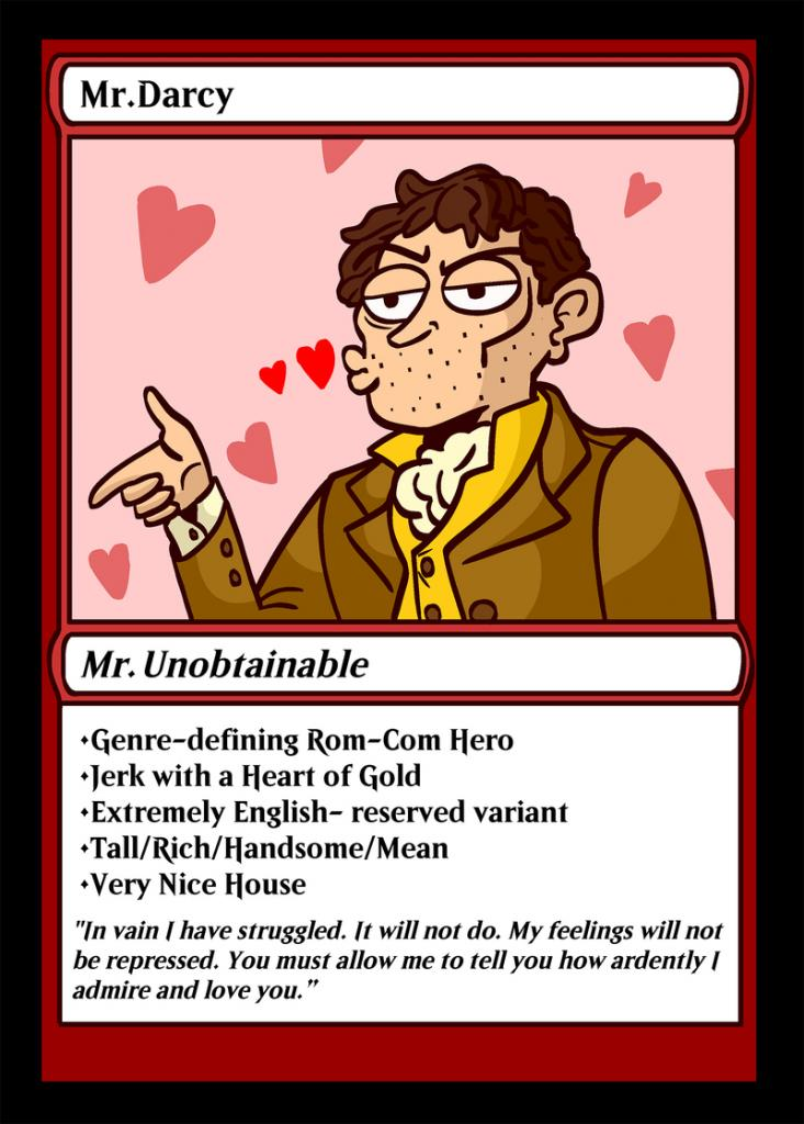 Mr. Darcy playing card