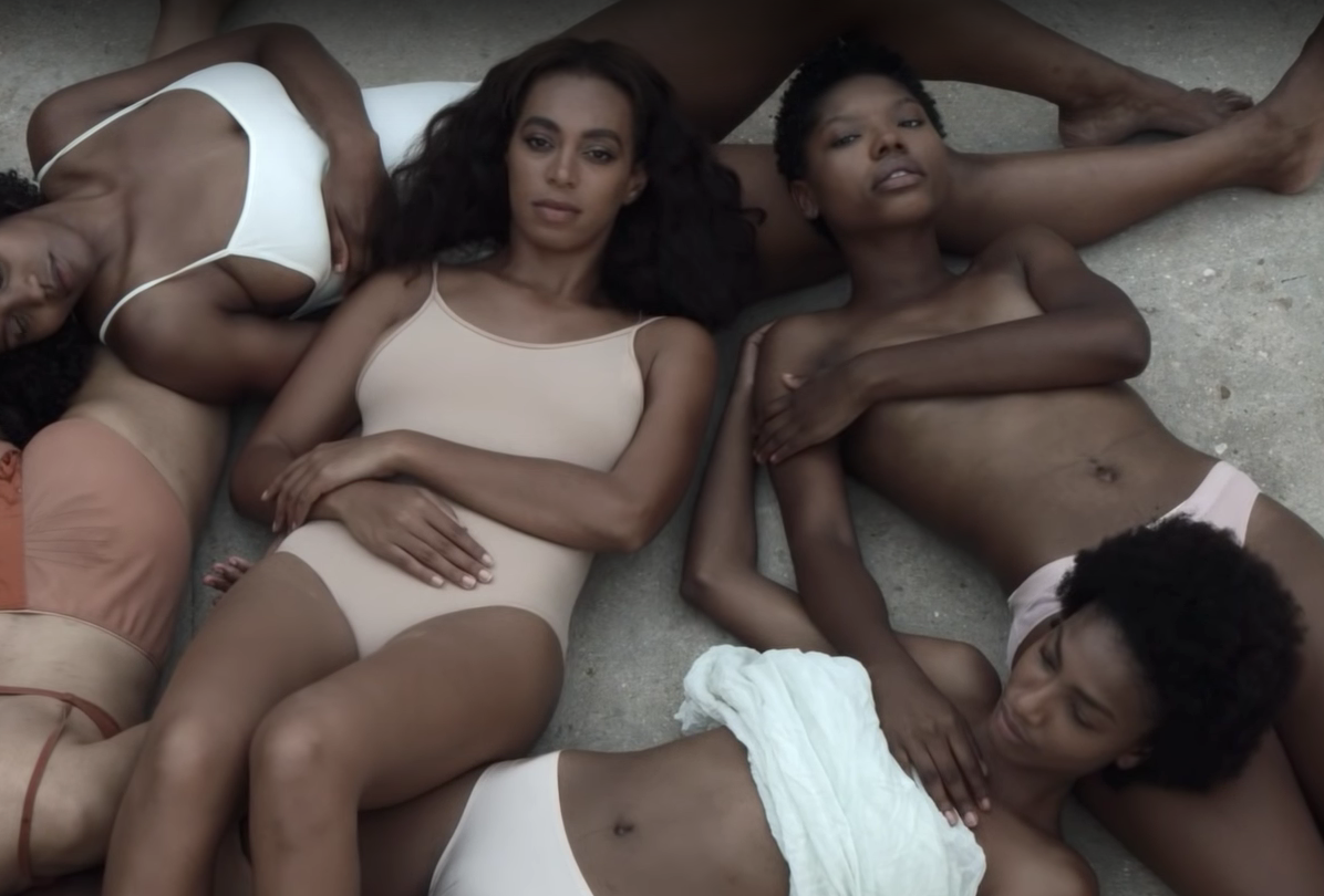 Still from Cranes in the Sky music video by Solange