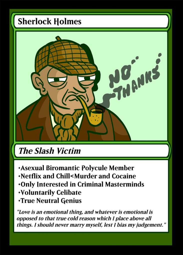 Holmes playing card