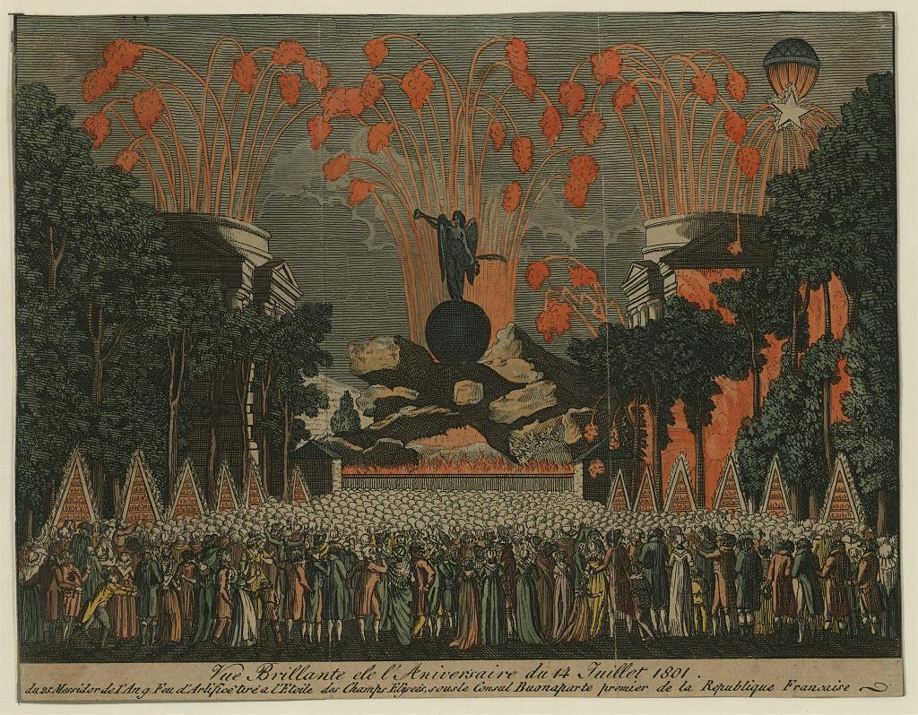 Vue brillante de l'aniversaire du 14 juillet 1801