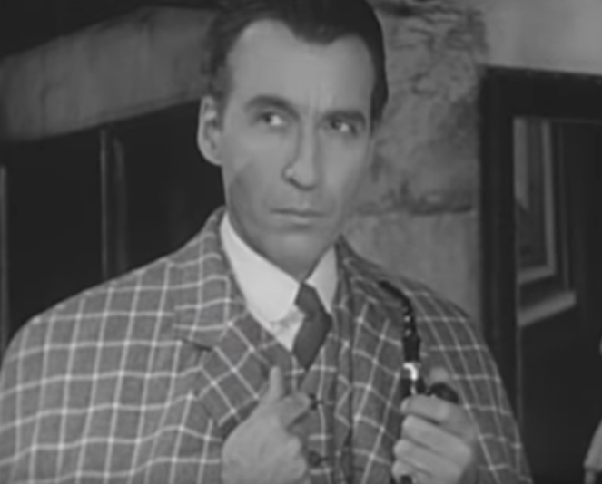 Christopher Lee in The Deadly Necklace