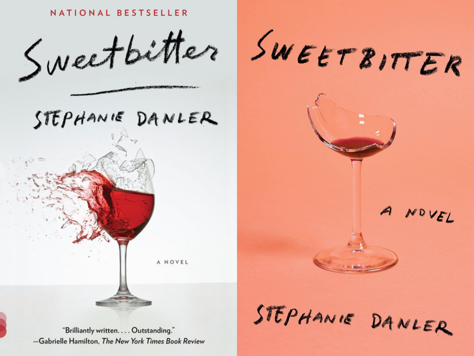 Paperback and hardcover editions of Sweetbitter by Stephanie Danler