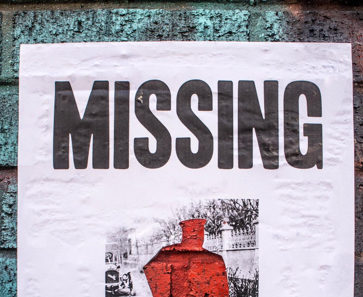 Missing person poster