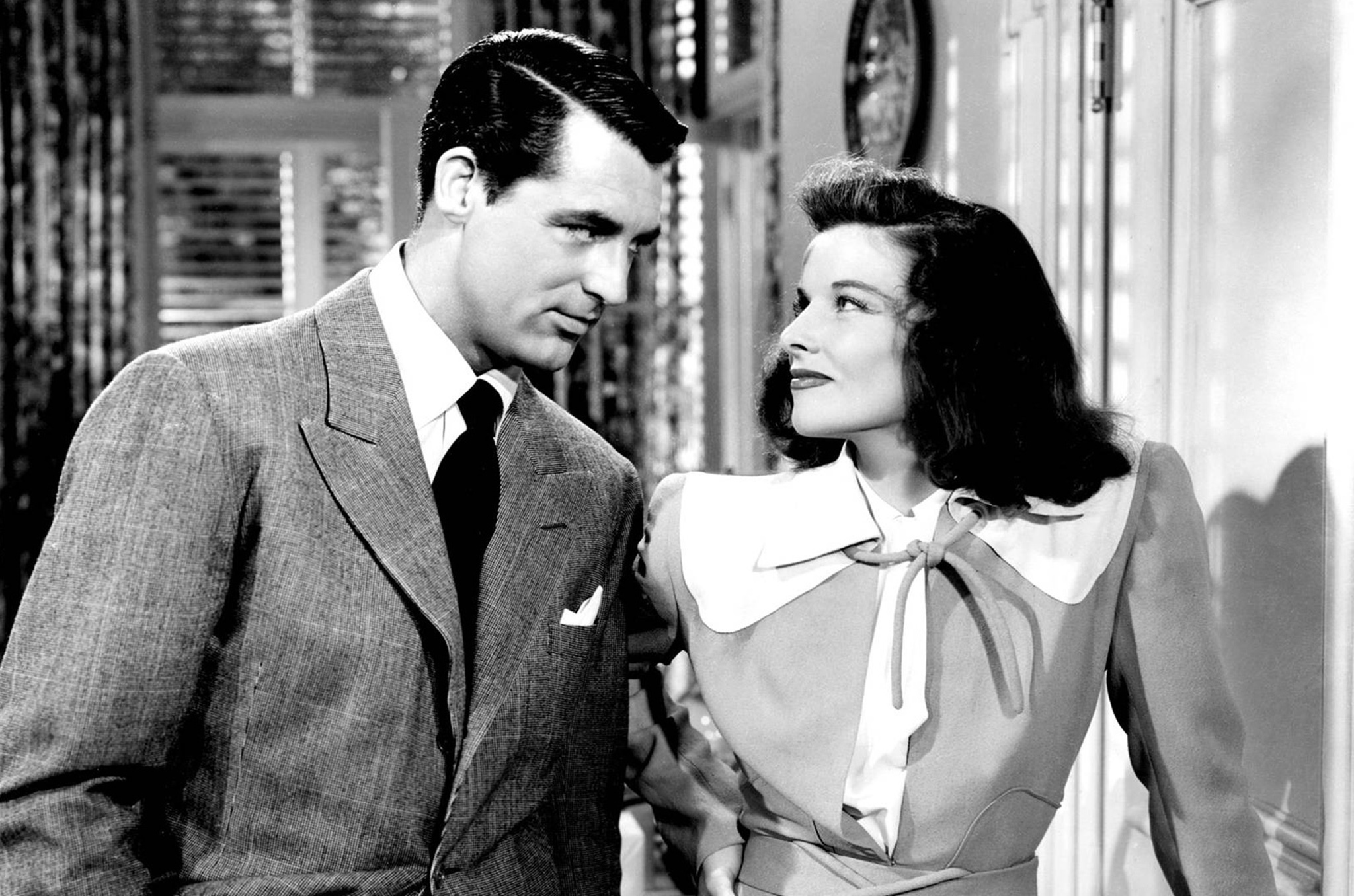 Cary Grant and Katharine Hepburn in The Philadelphia Story