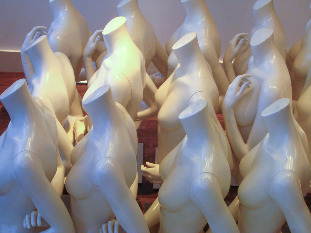 Female mannequins without heads