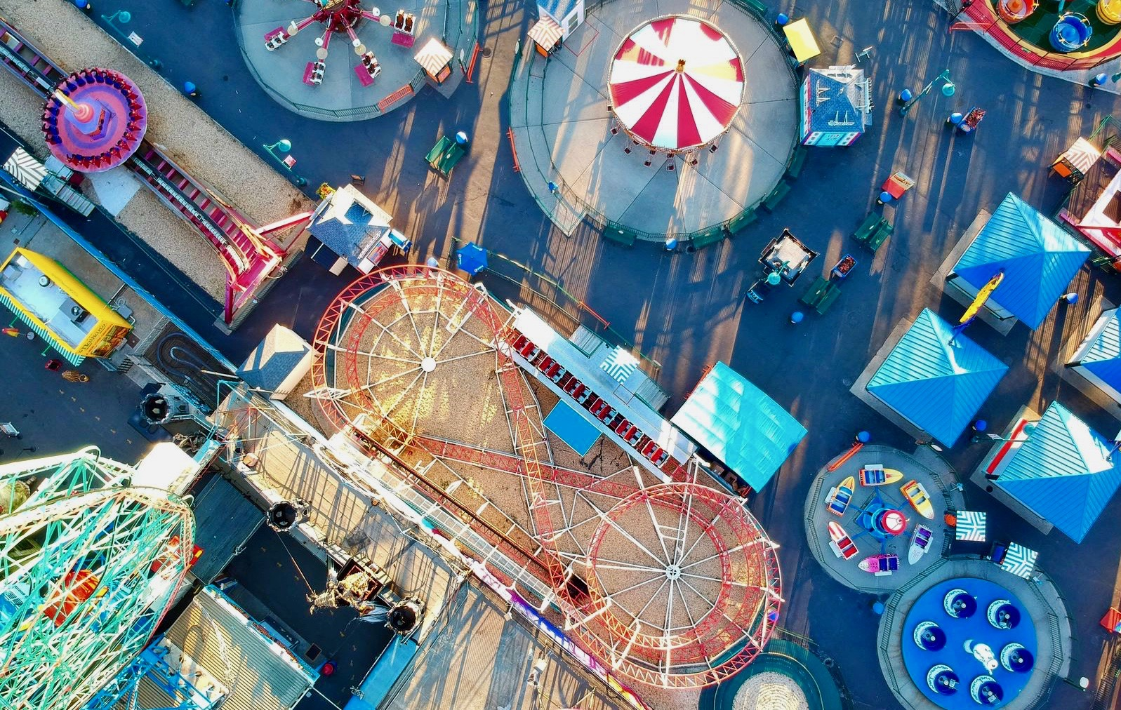 bird's eye view of carnival