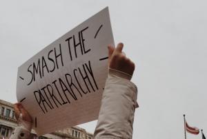 Smash the Patriarchy sign