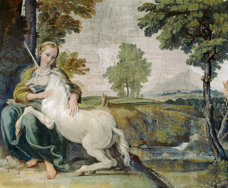 The Maiden and the Unicorn by Domenichino