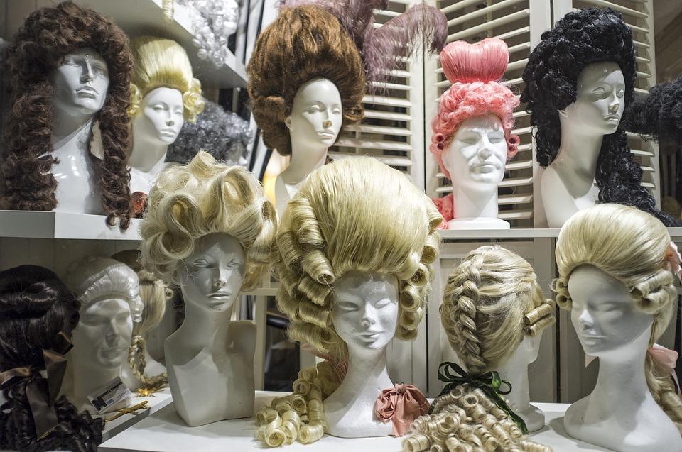 wigs in a shop