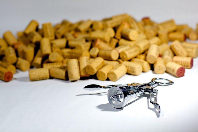 Many discarded wine corks
