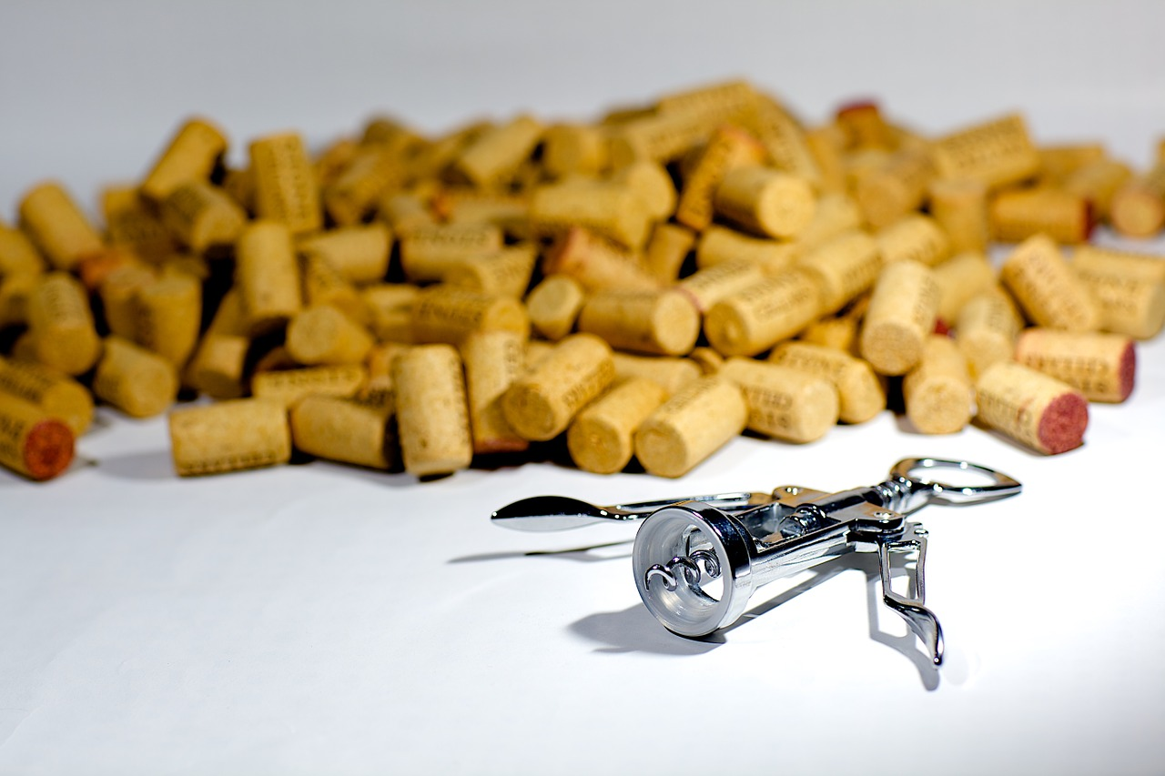 Many discarded wine corks