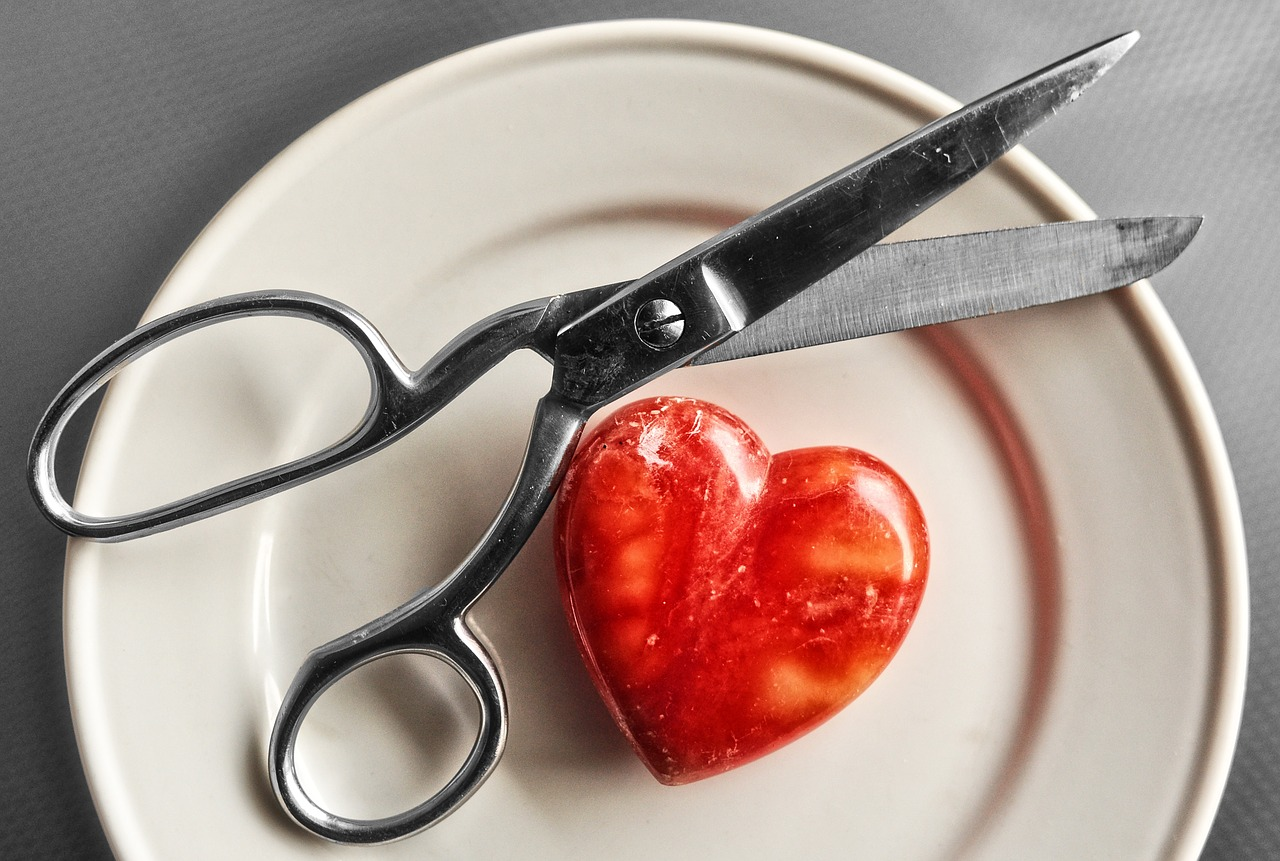 scissors and heart