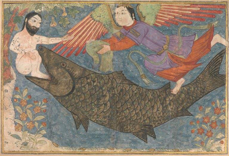 """""""Jonah and the Whale"""", Folio from a Jami al-Tavarikh (Compendium of Chronicles) ca. 1400"""