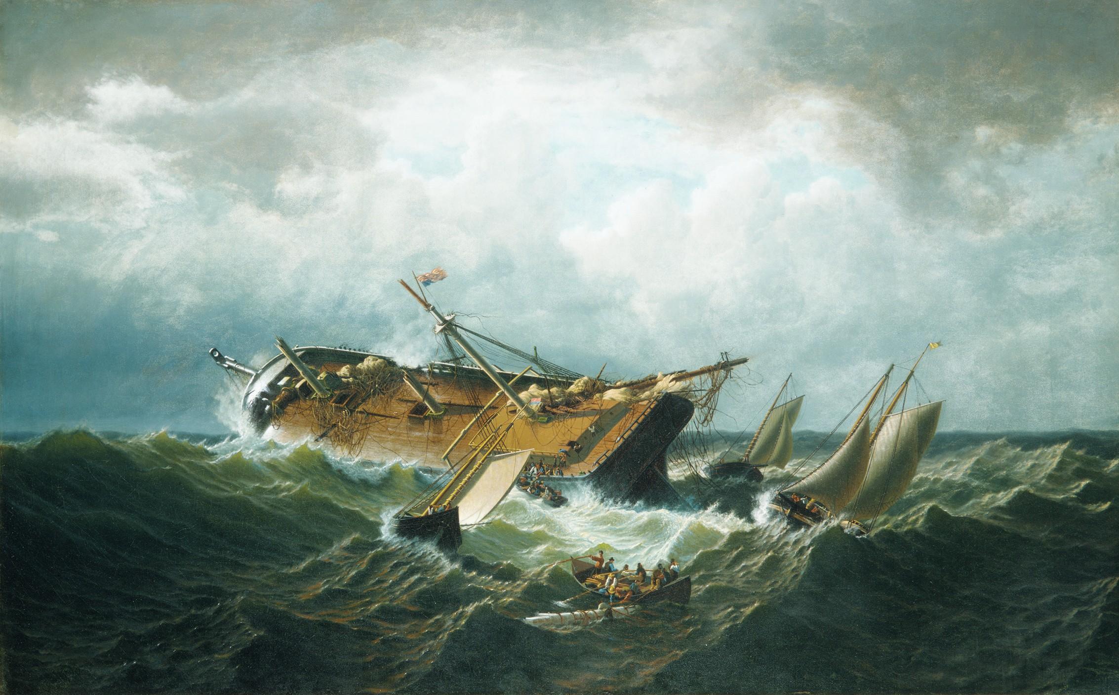 Shipwreck off Nantucket (Wreck off Nantucket after a Storm) ca. 1860–61 William Bradford American