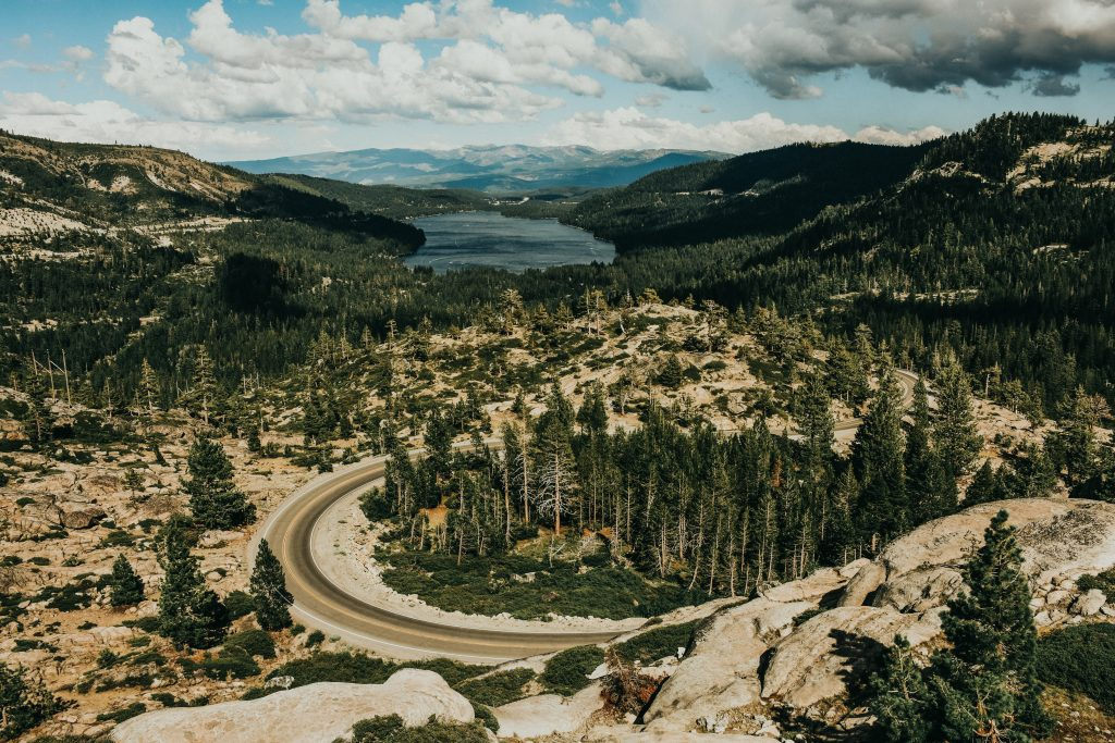 Aerial shot of the Donner Pass
