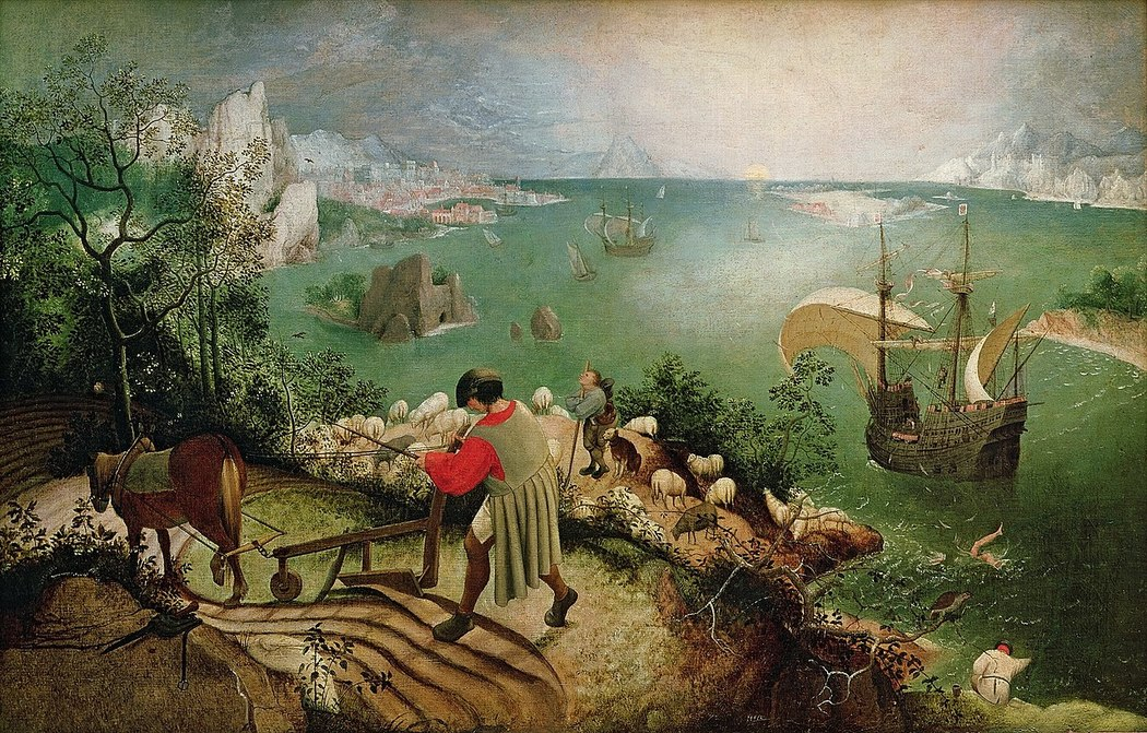 painting, Landscape with the Fall of Icarus