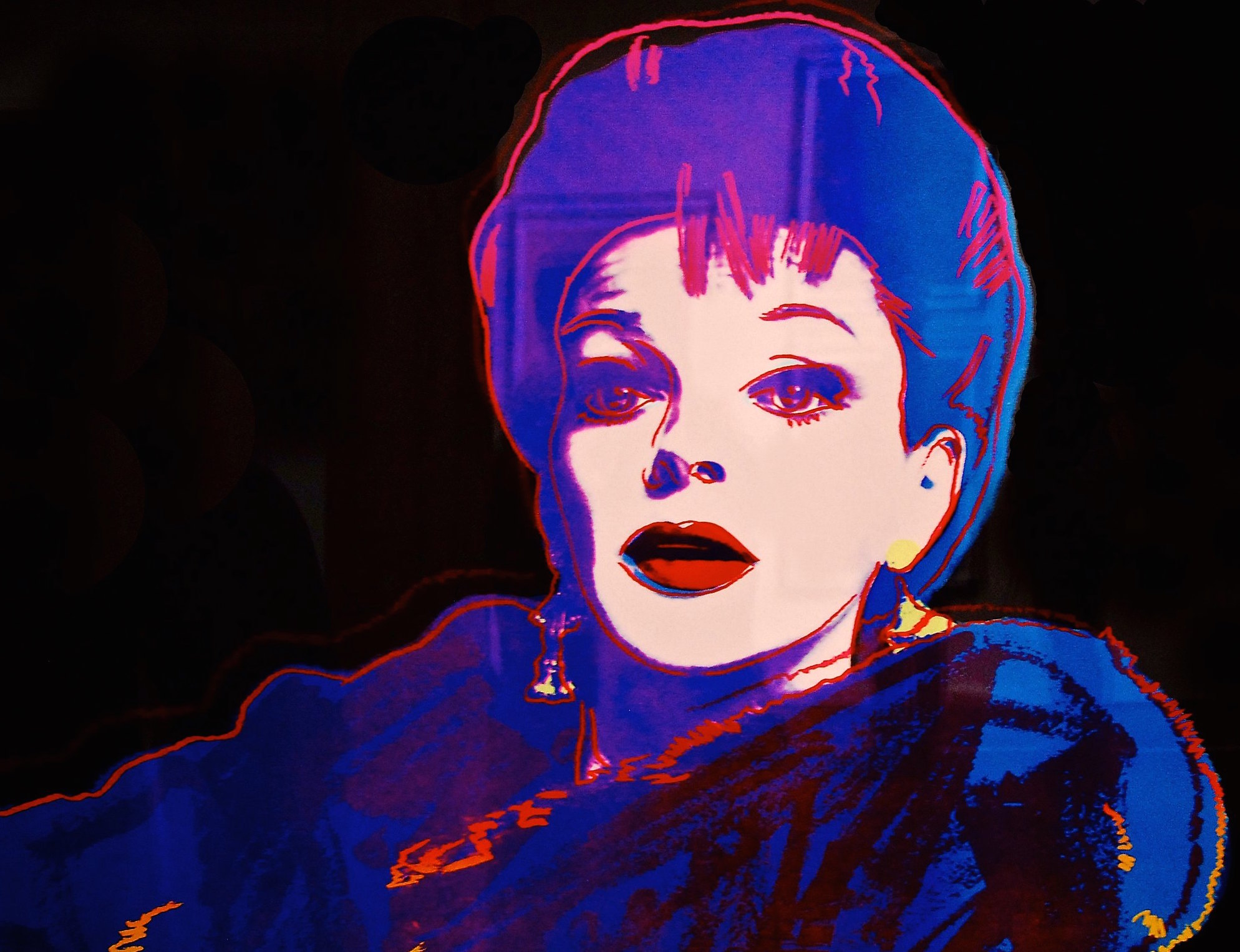 Andy Warhol print of Judy Garland