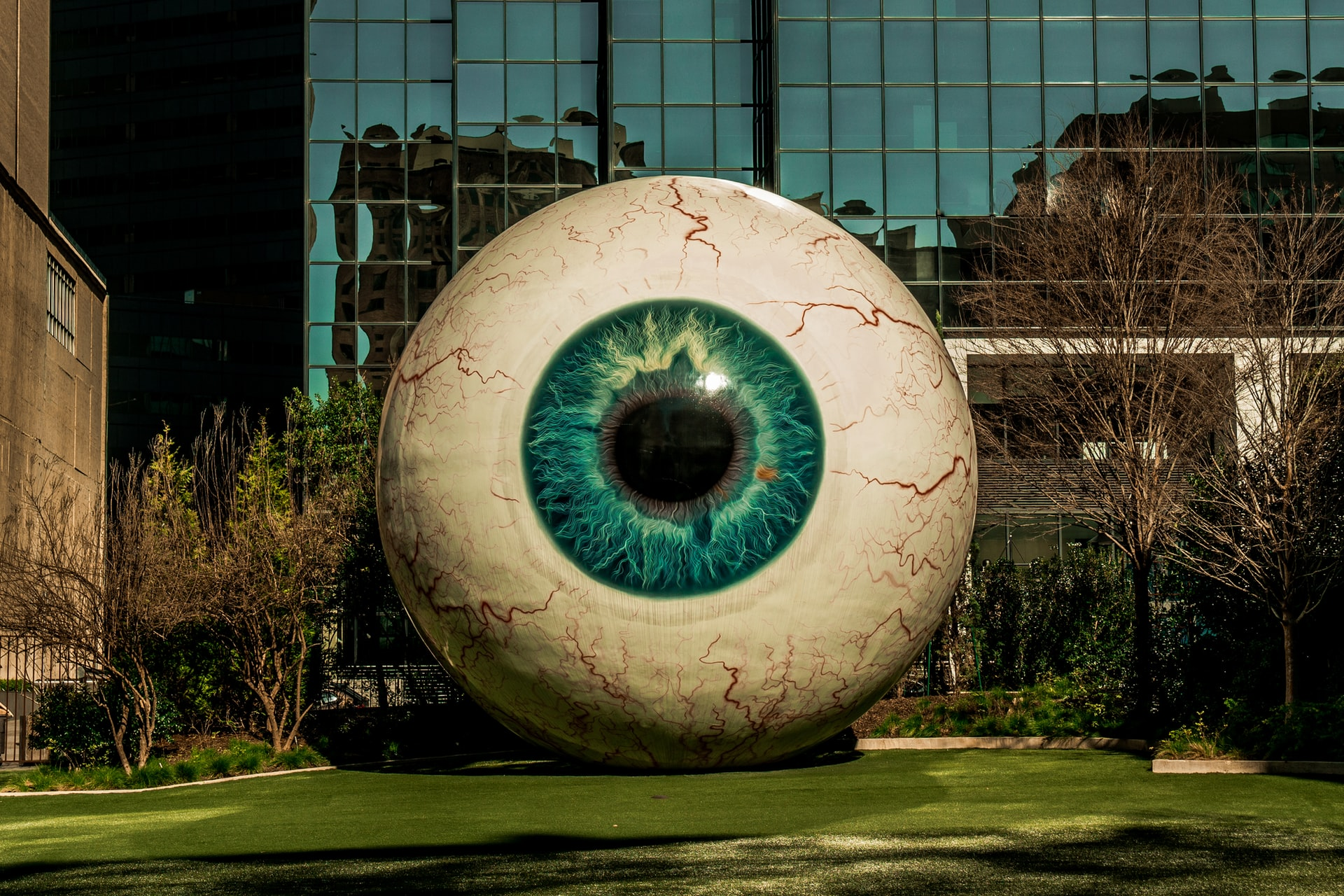 Sculpture of giant eyeball
