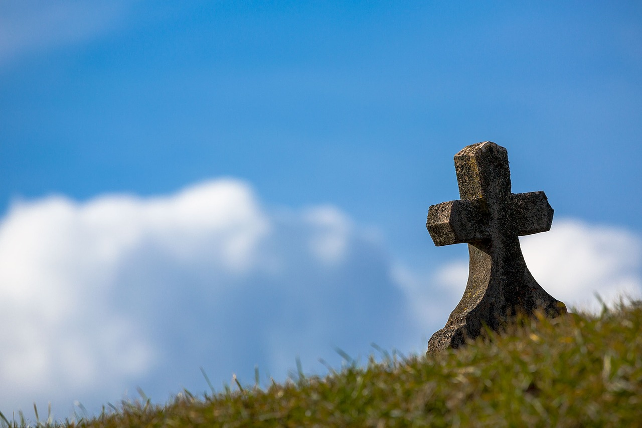 Grave on hillside