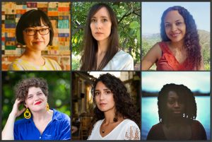 A photo grid of the winners of the Rona Jaffe Award