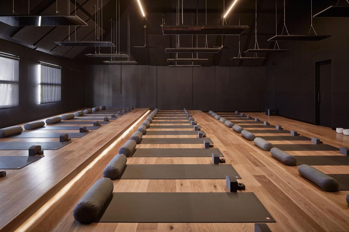 empty yoga class