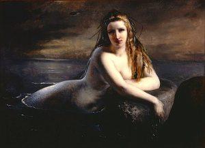 A Mermaid by Elisabeth Jerichau Baumann - Havfrue