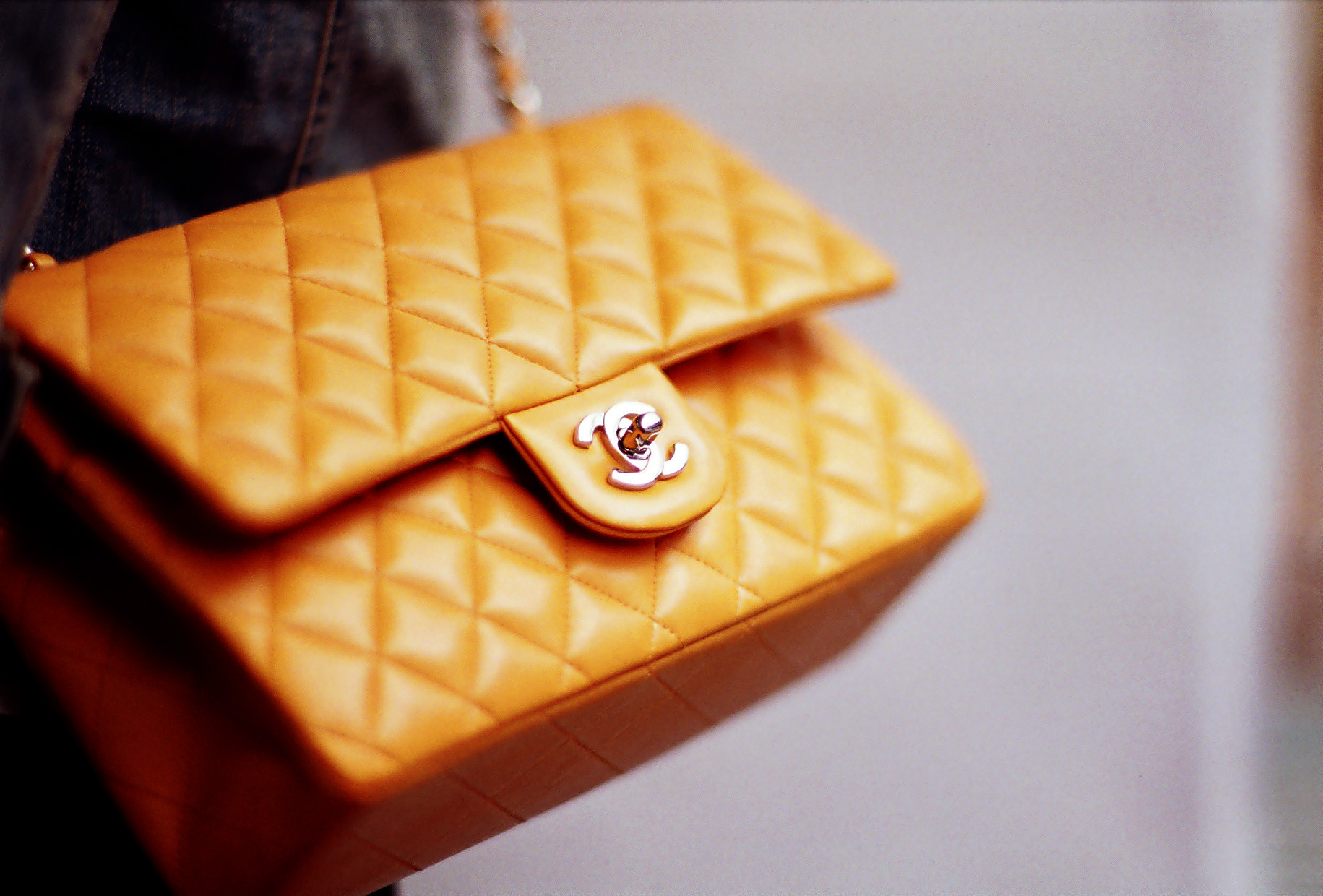 Yellow Chanel bag