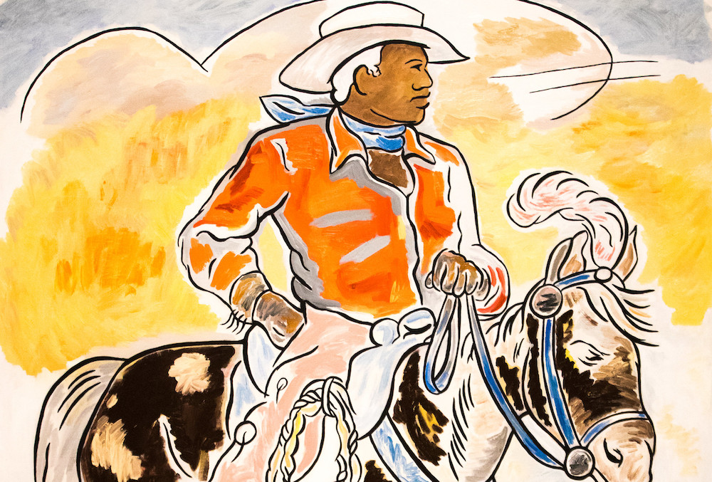 Drawing of a Black cowboy