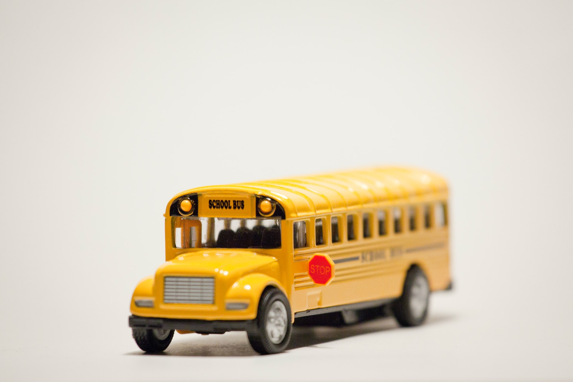 Small toy school bus