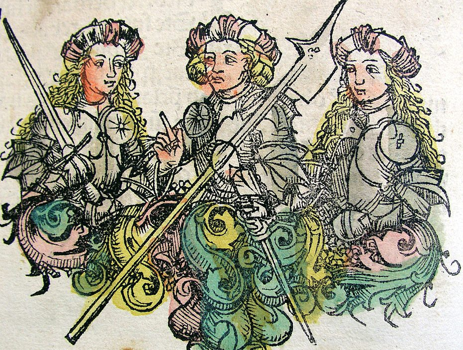 Amazons as depicted in the 1493 Nuremberg Chronicle