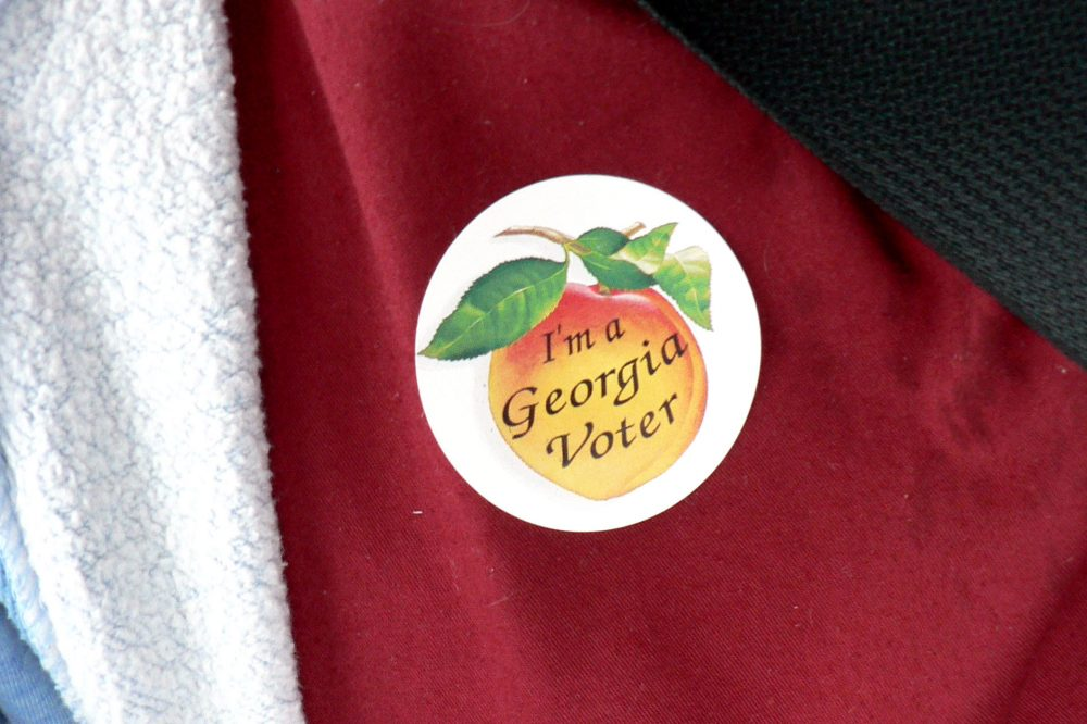 Georgia voting sticker