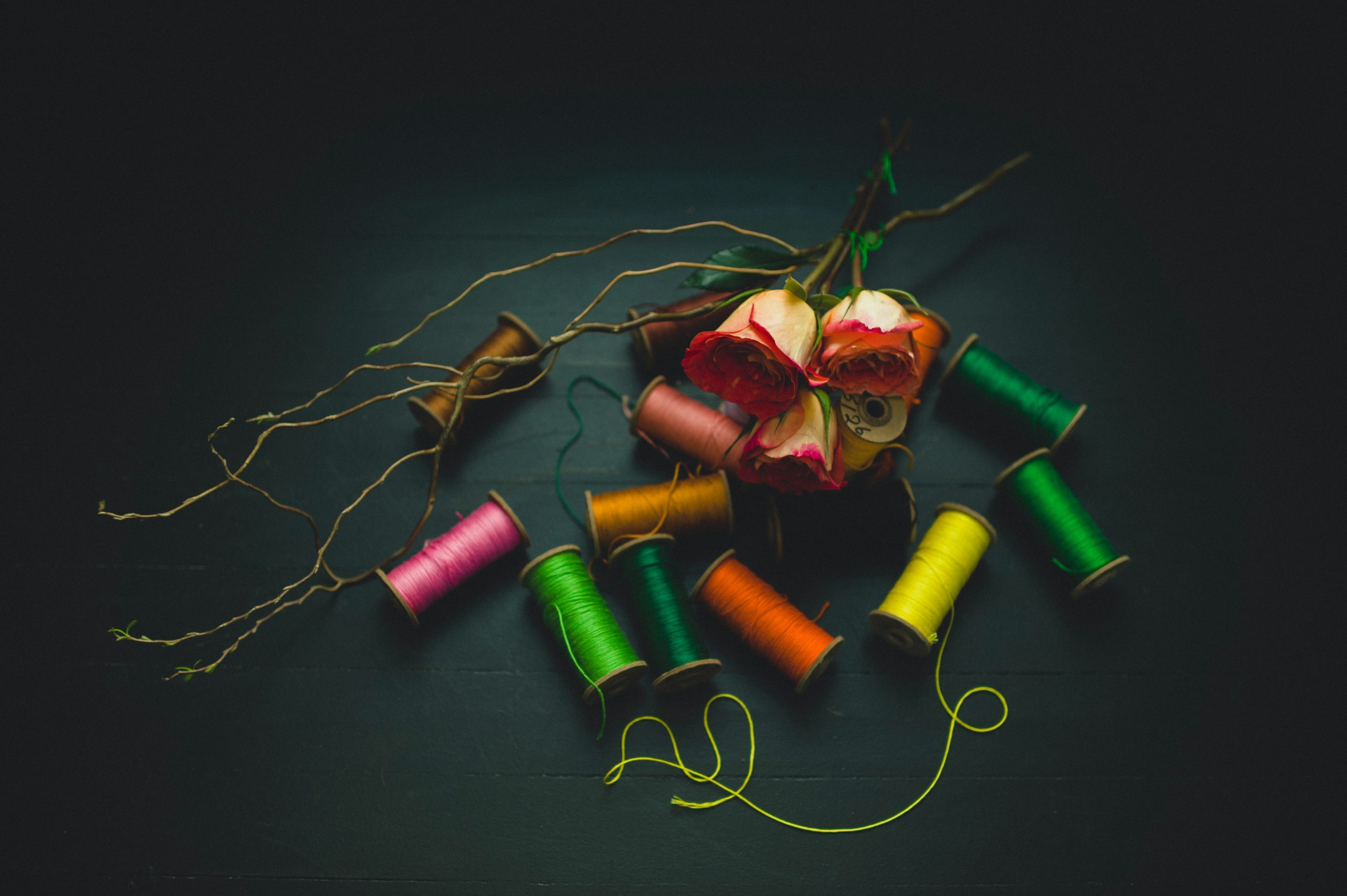 roses and thread