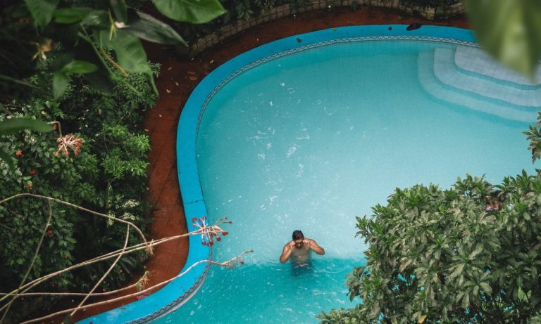 resized man in pool